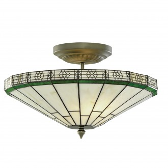 SEARCHLIGHT 4417-17 | New-York Searchlight stropné svietidlo 2x E14 bronzová, jantárové