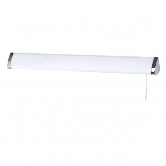 SEARCHLIGHT 5372CC | Poplar Searchlight stenové svietidlo prepínač na ťah 1x G5 / T5 4000K IP44 chróm, biela, opál