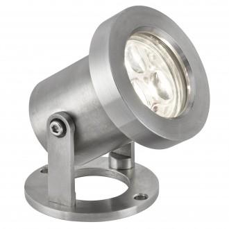 SEARCHLIGHT 6223SS | OutdoorS-035 Searchlight reflektory svietidlo sklápacie 1x LED 240lm 6500K IP65 saténové striebro, priesvitné