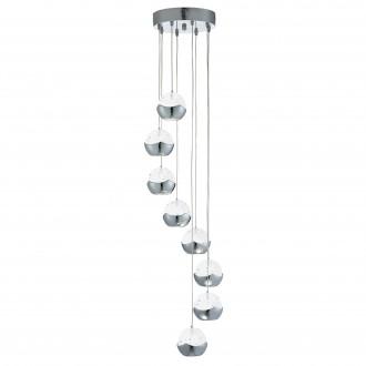 SEARCHLIGHT 7358-8CC | Ice-Ball Searchlight visiace svietidlo 8x LED 2400lm 3000K chróm, priesvitné, bublinový efekt