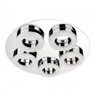 SEARCHLIGHT 8015-5CC | PoloS Searchlight stropné svietidlo 1x LED 2460lm 4000K chróm, biela, kryštálový efekt