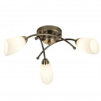 SEARCHLIGHT 8183-3AB | Opera Searchlight stropné svietidlo 3x G9 antická meď, opál, priesvitné