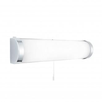 SEARCHLIGHT 8293CC | Poplar Searchlight stenové svietidlo prepínač na ťah 2x E14 IP44 chróm, morené