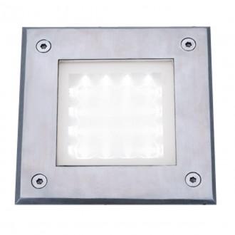 SEARCHLIGHT 9909WH | Walkover Searchlight zabudovateľné svietidlo 150x150mm 1x LED 20lm 6000K IP68 chróm, priesvitné, morené