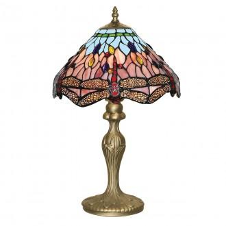 SEARCHLIGHT EU1287 | Dragonfly Searchlight stolové svietidlo 46cm prepínač 1x E27 antická meď, farebné