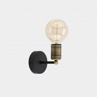 TK LIGHTING 1900 | Retro-TK Tk Lighting rameno stenové svietidlo 1x E27 čierna, antická bronzováová