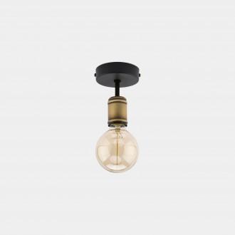 TK LIGHTING 1901 | Retro-TK Tk Lighting stropné svietidlo 1x E27 čierna, antická bronzováová