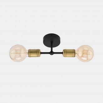 TK LIGHTING 1902 | Retro-TK Tk Lighting stropné svietidlo 2x E27 čierna, antická bronzováová