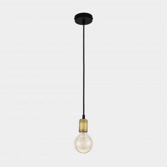 TK LIGHTING 1903 | Retro-TK Tk Lighting visiace svietidlo 1x E27 čierna, antická bronzováová