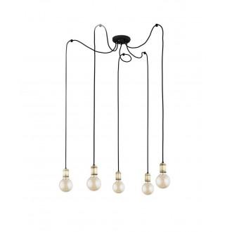 TK LIGHTING 2362   Qualle Tk Lighting visiace svietidlo vedenie je možné zkrátiť 5x E27 čierna