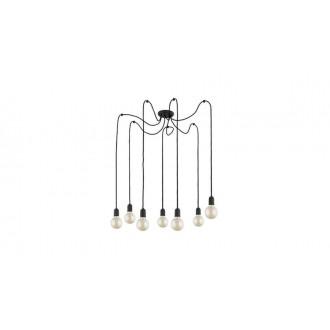 TK LIGHTING 2363   Qualle Tk Lighting visiace svietidlo vedenie je možné zkrátiť 7x E27 čierna