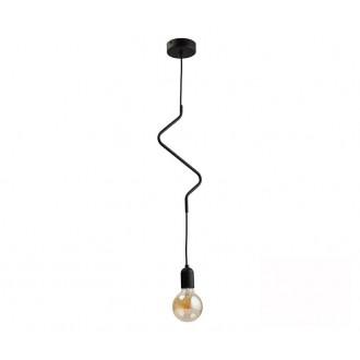 TK LIGHTING 2439 | Zigzag-TK Tk Lighting visiace svietidlo 1x E27 čierna