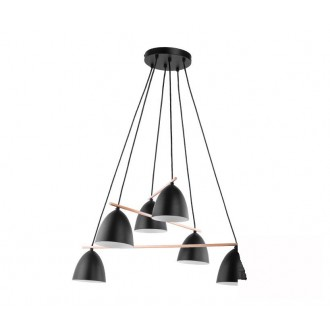 TK LIGHTING 2577 | Aida-TK Tk Lighting visiace svietidlo 6x E27 čierna, biela