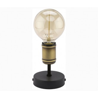 TK LIGHTING 2971 | Retro-TK Tk Lighting stolové svietidlo 13cm 1x E27 čierna, antická bronzováová