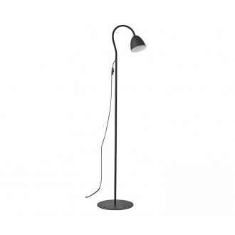 TK LIGHTING 3124   Loretta Tk Lighting stojaté svietidlo 150cm prepínač na vedení flexibilné 1x E27 čierna, biela