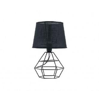 TK LIGHTING 843   Diamond-Black-TK Tk Lighting stolové svietidlo 34cm prepínač na vedení 1x E27 čierna