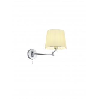 TRIO 209100107 | Lyon-TR Trio rameno stenové svietidlo prepínač na ťah otočné prvky 1x E27 matný nikel, biela