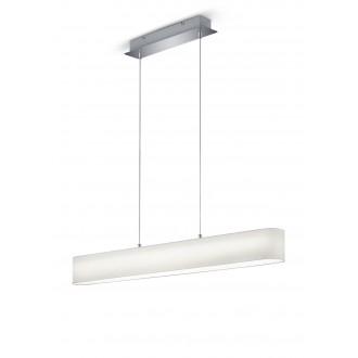 TRIO 320910101 | Lugano-TR Trio visiace svietidlo regulovateľná intenzita svetla 1x LED 1500lm 3000K matný nikel, biela