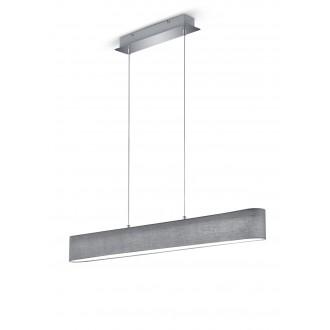 TRIO 320910111 | Lugano-TR Trio visiace svietidlo regulovateľná intenzita svetla 1x LED 1500lm 3000K matný nikel, sivé