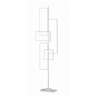 TRIO 472610531 | Tucson-TR Trio stojaté svietidlo 160cm nožný vypínač regulovateľná intenzita svetla 1x LED 3750lm 3000K matný biely