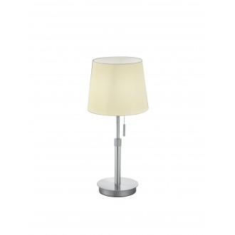 TRIO 509100107 | Lyon-TR Trio stolové svietidlo 45cm prepínač na ťah nastaviteľná výška 1x E27 matný nikel, biela