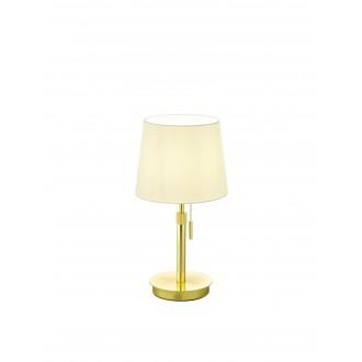 TRIO 509100108 | Lyon-TR Trio stolové svietidlo 45cm prepínač na ťah nastaviteľná výška 1x E27 matný zlatý, biela