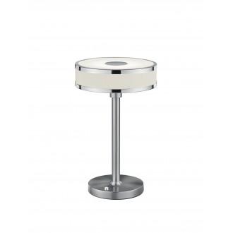 TRIO 578090107 | Agento Trio stolové svietidlo 32cm dotykový prepínač s reguláciou svetla regulovateľná intenzita svetla 1x LED 750lm 3000K matný nikel, špinavá biela
