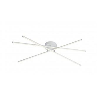 TRIO 671610331 | Tiriac-TR Trio stropné svietidlo otočné prvky, regulovateľná intenzita svetla 3x LED 2850lm 3000K matný biely