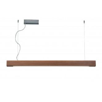 VIOKEF 3089702 | Avenue-VI Viokef visiace svietidlo regulovateľná intenzita svetla 1x LED 5000lm 3000K drevo, hnedá