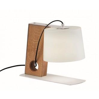 VIOKEF 3092600 | Orbed Viokef stolové svietidlo 26,5cm prepínač 1x E27 biela, natur, čierna