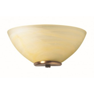VIOKEF 330205 | Electra-VI Viokef stenové svietidlo 1x E14 alabaster, antický, alabaster