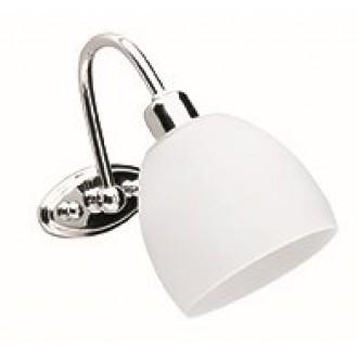 VIOKEF 351300 | Niobe Viokef rameno stenové svietidlo 1x E14 matný biely, chróm