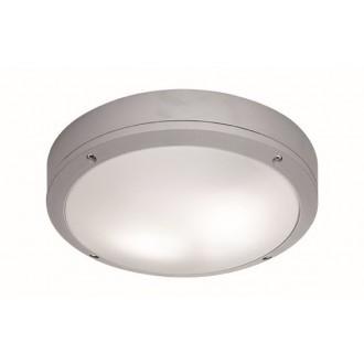 VIOKEF 4049200 | Leros Viokef stropné svietidlo 2x E27 IP44 sivé, opál