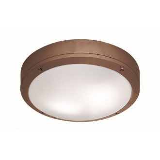 VIOKEF 4049203 | Leros Viokef stropné svietidlo 2x E27 IP44 hnedá, opál