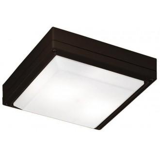 VIOKEF 4049303 | Leros Viokef stropné svietidlo 2x E27 IP44 hnedá, opál