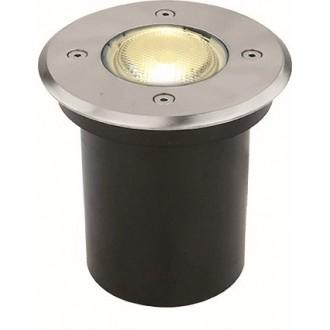 VIOKEF 4053900 | Franco-VI Viokef zabudovateľné svietidlo Ø110mm 1x GU10 IP65 nerez, čierna