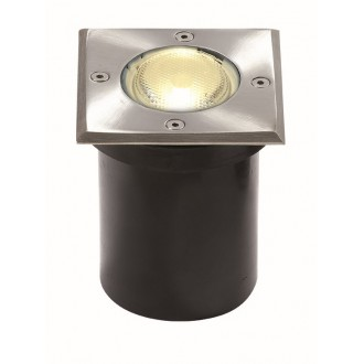 VIOKEF 4054000 | Franco-VI Viokef zabudovateľné svietidlo 118x118mm 1x GU10 IP65 nerez, čierna