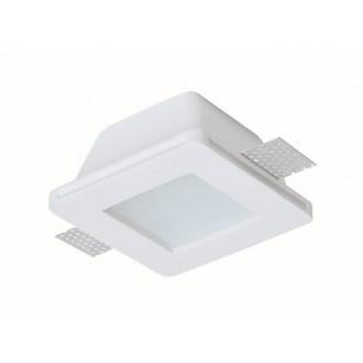 VIOKEF 4116000 | Dalton-VI Viokef zabudovateľné svietidlo malovatelné 120x120mm 1x MR16 / GU5.3 / GU10 IP44/20 biela