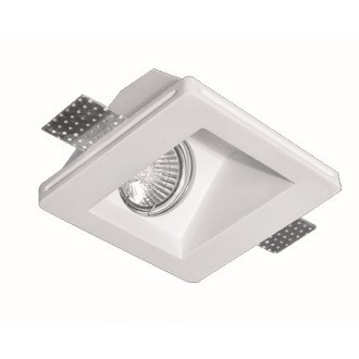 VIOKEF 4116100 | Dalton-VI Viokef zabudovateľné svietidlo malovatelné 120x120mm 1x MR16 / GU5.3 / GU10 biela