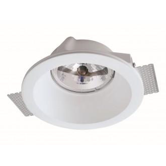 VIOKEF 4116300 | Boston-VI Viokef zabudovateľné svietidlo malovatelné 200x200mm 1x G53 / AR111 | GU10 / ES111 biela