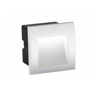 VIOKEF 4124801 | Riva-VI Viokef zabudovateľné svietidlo 90x90mm 1x LED 105lm 3000K IP65 biela, čierna