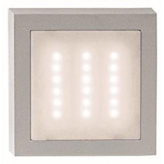 VIOKEF 4136100 | Leros Viokef stenové svietidlo 1x LED 140lm 3000K IP44 sivé, biela