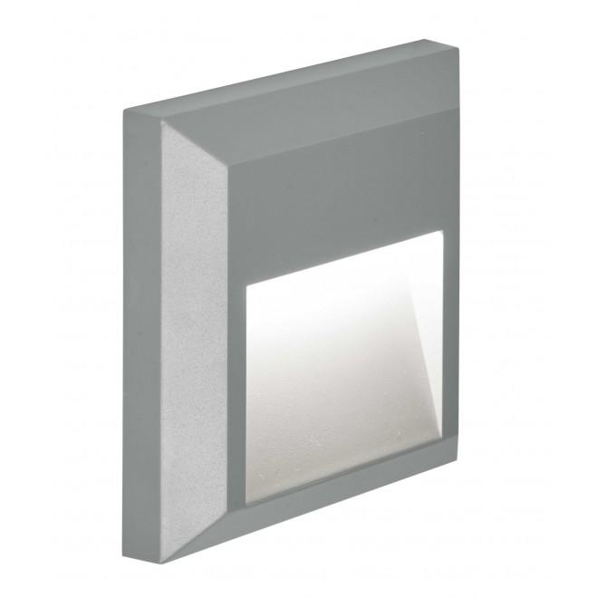 VIOKEF 4137800   Leros-Plus Viokef stenové svietidlo 1x LED 112lm 3000K IP44 sivé