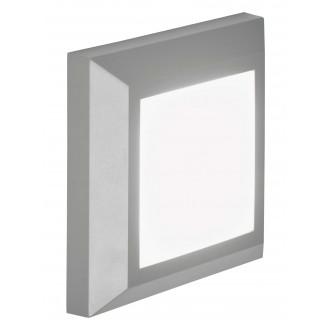 VIOKEF 4137900 | Leros-Plus Viokef stenové svietidlo 1x LED 260lm 3000K IP44 sivé, biela