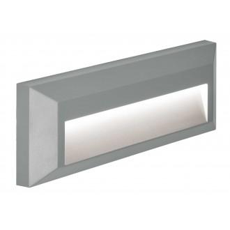 VIOKEF 4138100 | Leros-Plus Viokef stenové svietidlo 1x LED 112lm 3000K IP44 sivé