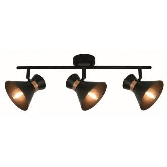 VIOKEF 4148400 | Viokef spot svietidlo otočné prvky 3x E14 čierna, mosadz