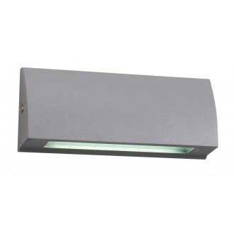 VIOKEF 4155900 | Tech Viokef stenové svietidlo 1x LED 168lm 3000K IP54 sivé, biela