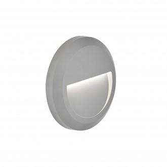 VIOKEF 4156100 | Leros-Plus Viokef stenové svietidlo 1x LED 112lm 3000K IP44 sivé