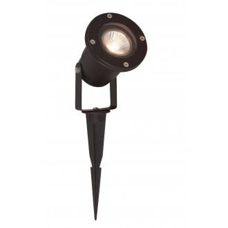 VIOKEF 4158300 | Leros Viokef svetlomet, zapichovacie svietidlo otočné prvky 1x GU10 IP65 čierna