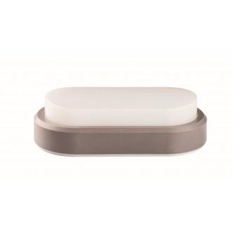VIOKEF 4171600 | Leros-Plus Viokef stenové svietidlo 1x LED 500lm 3000K IP54 strieborný, biela